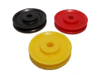 Pulley 25mm dia without boss, plastic