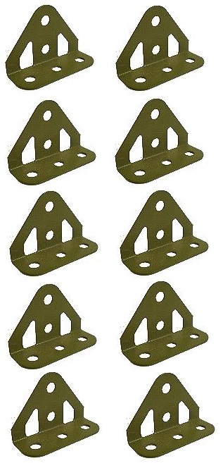 10 x Trunion, Army green (ex-multikit)  ** SAVE 1/3 **