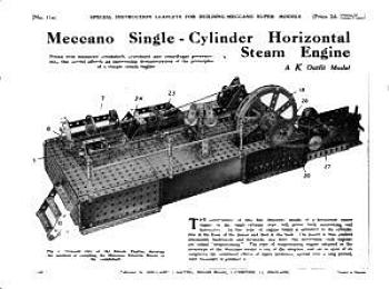 SINGLE CYLINDER HORIZONTAL STEAM ENGINE (REVISED)