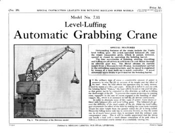 LEVEL LUFFING AUTOMATIC GRABBING CRANE