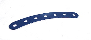 Curved Strip 7 holes (8/circle), UK Dark Blue