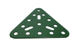 Triangular Flat Plate 5x5 holes (green)