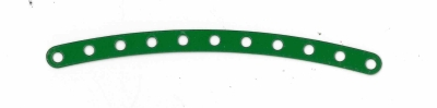 Narrow Curved Strip 11 holes (green)