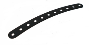 Curved Strip 11 holes - black