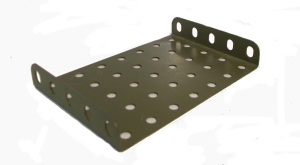 Army Green Flanged Plate 7x5 holes