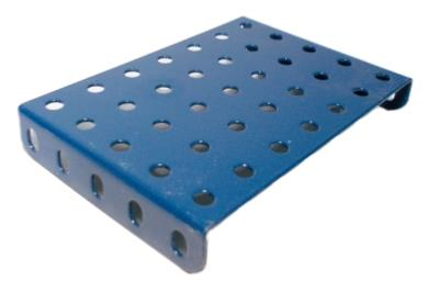 Flanged Plate, 7x5 holes - blue
