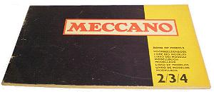 Meccano Set 2/3/4 Model Book