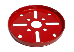 Wheel Flange 63.5mm dia, red