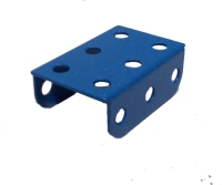 Flanged Plate, 3x2 holes, metallic blue