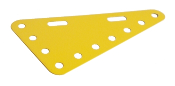 Triangular Flexible Plate 7x4 holes - yellow