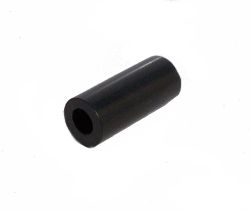 Black Plastic Hollow Rod 22mm long