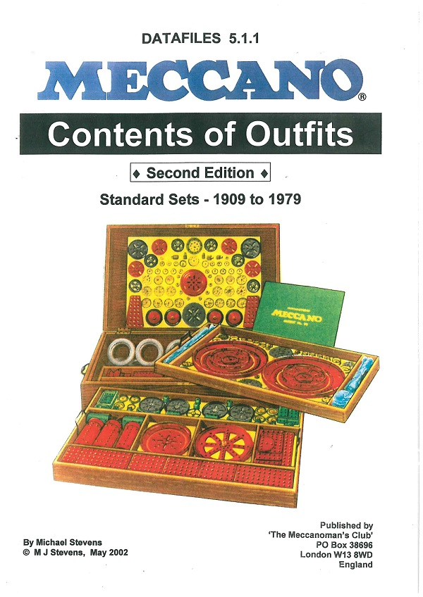 Contents of Outfits - Standard Sets 1909-79