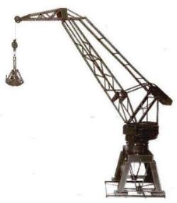 Level-Luffing Crane with Automatic Grab (Set 10 model)