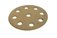 Wheel Disc 8 holes, brass