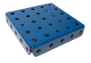 Flanged Plate, 5x5 holes