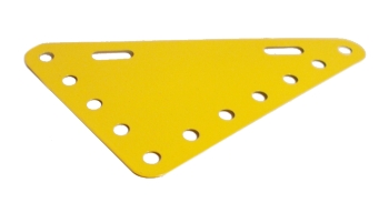 Triangular Flexible Plate 7x5 holes - yellow