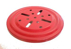 Ball Bearing Flanged Tray, red