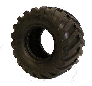 Extra-Wide Large Tread Tyre for 2xFace Plates