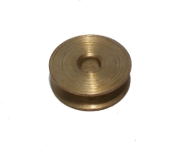 Pulley (no boss) 12mm dia, UK dull Brass