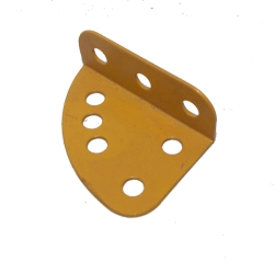 Quarter Circular Flanged Plate (L/H), UK Yellow