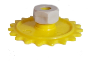 Sprocket Wheel (20 Teeth) with Collet Nut