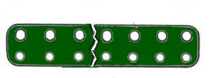 Narrow Flat Girder 11 holes