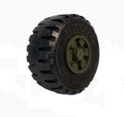 Army Green Road Wheel 50mm dia