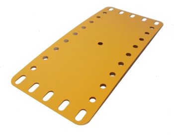 Flexible Plate 11x5 holes, UK Yellow