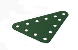Triangular Flat Plate 4x3 holes (green)