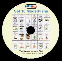 """Set 10"" Model Plans on CD"