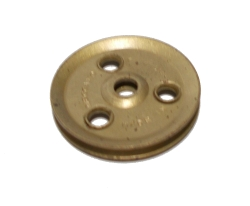Pulley (no boss) 25mm dia, UK dull Brass