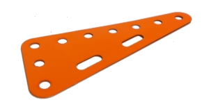 Triangular Flexible Plate 7x3 holes - orange